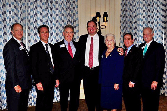 Group photo that includes Marine Bank & Trust President, Bill Kelley